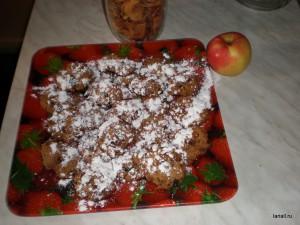 Печенье с хлопьями и сухофруктами