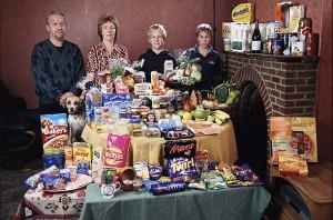 Недельная еда в Великобритании