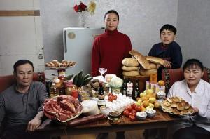 Недельная еда в Монголии