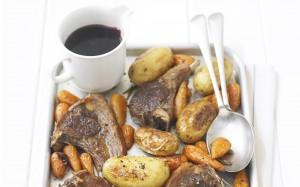 быстрое блюдо из баранины с овощами