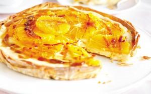 Апельсиново-карамельный пирог