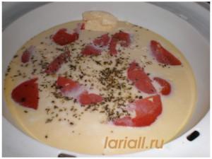 Омлет с помидорами в  пароварке